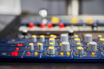 Knobs on mixing console