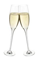Champagner Sekt Gläser Anstoßen Prosit Feier