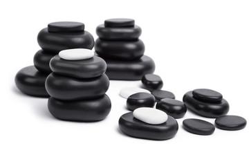 isolated massage stones set