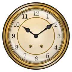 Antique clock isolated on white vector