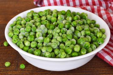 Bowl of frozen peas