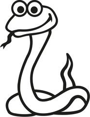 Snake cartoon contour