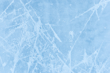 Ice texture on a skating rink