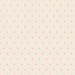 Seamless geometric pattern with hearts. repeating texture.Vector