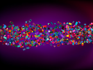 Abstract colorful cylinder background. EPS 8