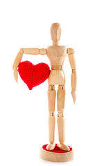 Love confession with wooden dummy