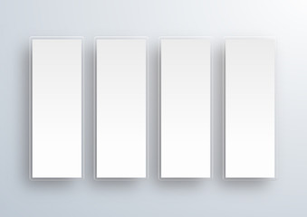 Crystal White Labels #Vector Background