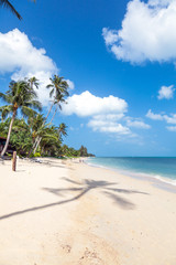 Beach of Bang Por on Koh Samui in Thailand