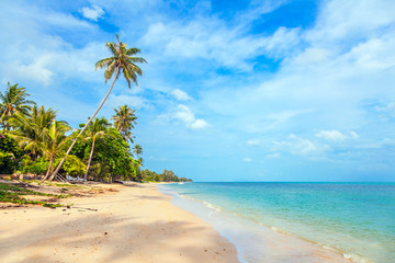 Sunny day at the beach of Bang Por on Koh Samui in Thailand.