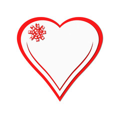 Holiday card. St. Valentines day. Confess his love,  declaration of love, Invitation, decorated bow heart. Isolated on the white.