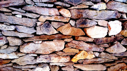 Vintage stone wall /Country fence of stone