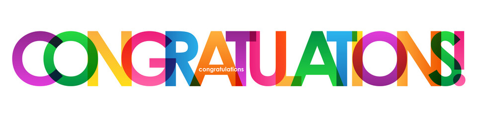 """CONGRATULATIONS"" Colourful Letter Banner"