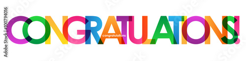 congratulations colourful letter banner stock image and royalty