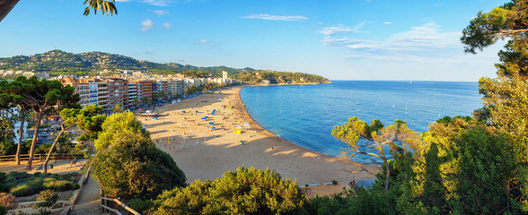 The beaches of Costa Brava in Lloret de Mar, Spain.