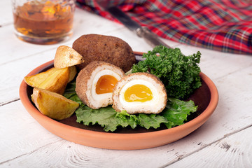 Traditional scotch eggs