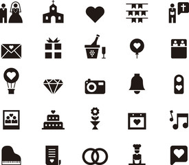 WEDDING & LOVE black icons