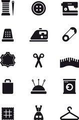 SEWING glyph flat icons