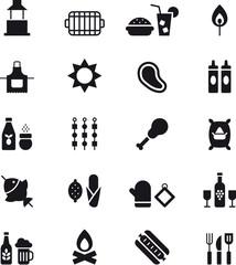 BBQ glyph icons