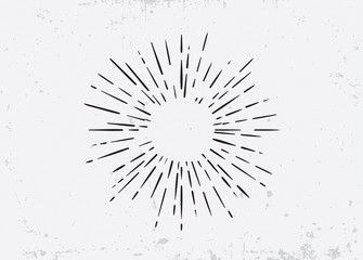 Sunburst on Starburst Element for Logo Creating or using as Icon