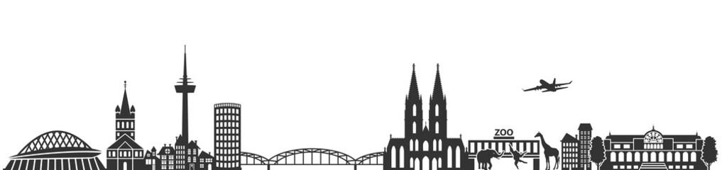 Köln Skyline Silhouette