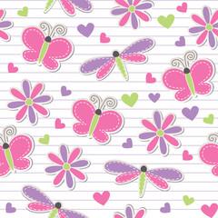 cute romantic seamless pattern
