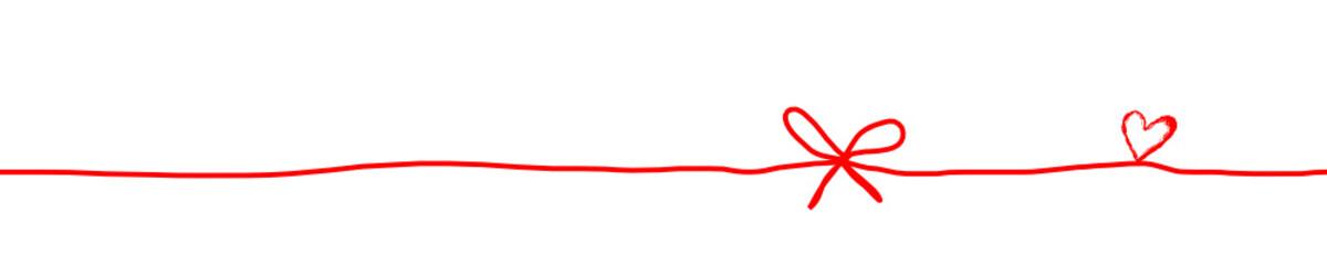 Herz Herzen Schleife Band Banner Rot Hintergrund Vektor