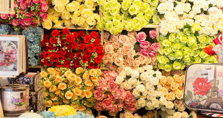 image of beautiful   colorful roses background