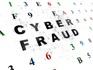 Privacy concept: Cyber Fraud on Digital background