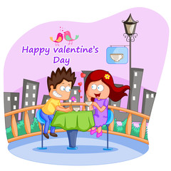 Love couple in Valentine's day