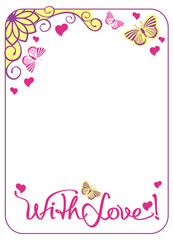 Greeting card with butterflies