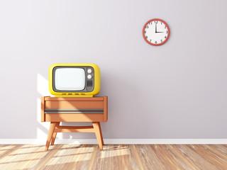 retro tv wall clock