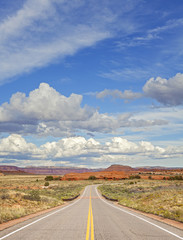 Country road in USA, travel concept.