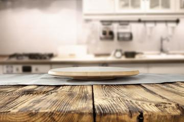 wooden kitchen desk top