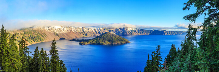 Fotorolgordijn Meer / Vijver Crater Lake National Park in Oregon, USA
