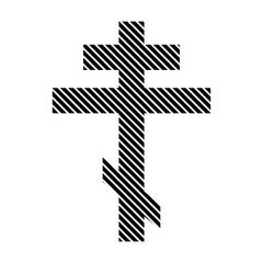 Religious orthodox cross sign.