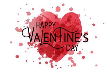 Happy Valentine's Day typography logotype, badge and icon