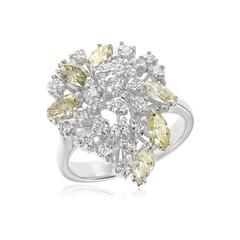 Diamond Ring, isolated on White Background