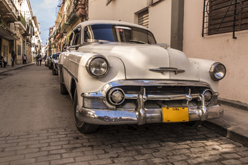 Fotorolgordijn Cubaanse oldtimers Cuban classic car