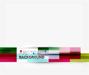 Geometrical design background, straight lines on white