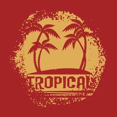 Palm trees, tropical symbol