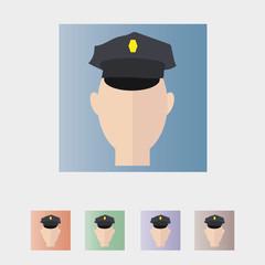 Male Policeman Officer Illustration Vector