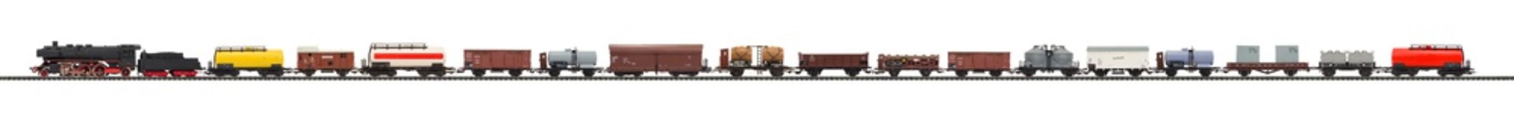 modelleisenbahn, eisenbahn zug güterzug
