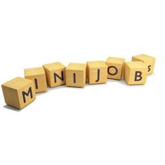Würfel mit Minijobs