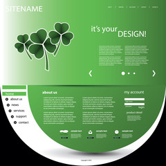 Website Design Template For Your Business - St. Patrick's Day