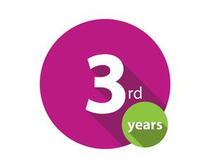 3rd years purple circle anniversary logo