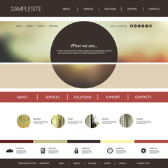 Website Template with Interesting Header Design Concept