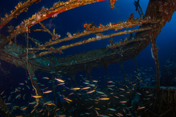 Boat underwater