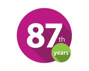 87th years purple circle anniversary logo