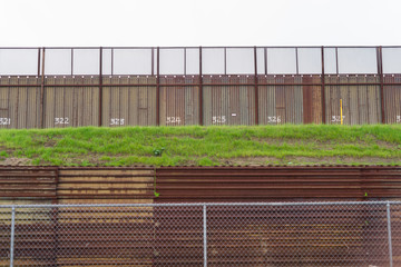 Fence Seperating Mexico From California United States Mexican Bo
