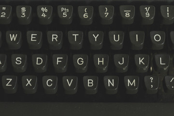 old typewriter keyword detail